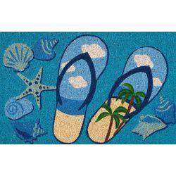 Nourison Flip Flop Scene Coir Outdoor Mat