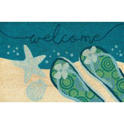 Nourison Flip Flop Welcome Coir Outdoor Mat