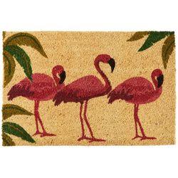 Nourison Flamingo Trio Coir Mat