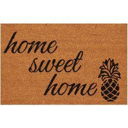 Casabella Home Sweet Home Pineapple Coir Outdoor Mat