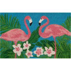Nourison Flamingo Pair Coir Mat