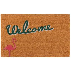 Nourison Welcome Flamingo Coir Mat