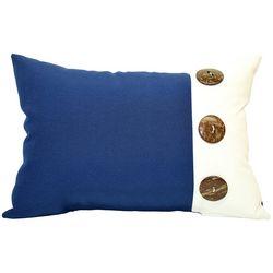 Newport 3 Button Outdoor Decorative Pillow