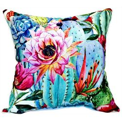 Newport Desert Flower Outdoor Decorative Pillow