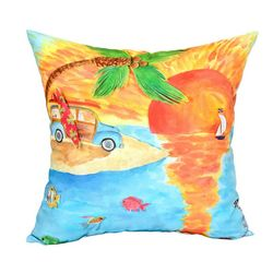 Newport Surf Cruiser Outdoor Decorative Pillow