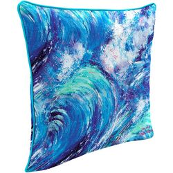 Leoma Lovegrove Tsunami Outdoor Decorative Pillow