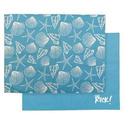 Bow Wow Pet Medium Blue Shell Cooling Mat