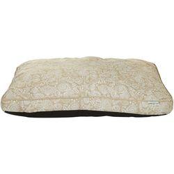 Coastal Home Sea Shell Print Flat Dog Bed