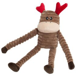 Zippy Paws Small Crinkle Reindeer Plush Dog Toy
