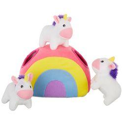Zippy Paws Unicorn Rainbow Burrow Dog Toy