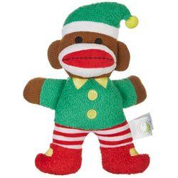 Lulubelles Elf Sock Monkey Plush Dog Toy