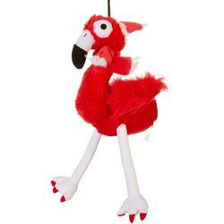 Lulubelle's Plush Santa Flo Rida Flamingo Dog Toy