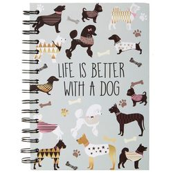 Tri Coastal Life Is Better With A Dog Spiral Notebook