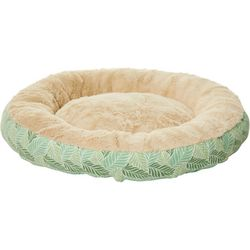 Precious Tails Green Fern Round Pet Bed