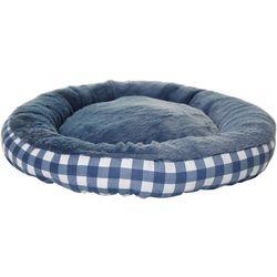 Precious Tails Plaid Round Pet Bed