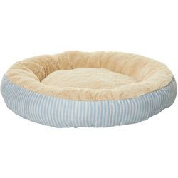 Precious Tails Striped Round Pet Bed