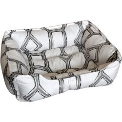 Elise & James Home Trellis Print Small Dog Cuddler Bed