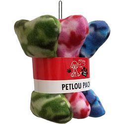 Petlou 3-pc. 8'' Bone Dog Toy