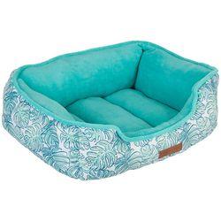 Caribbean Joe Watercolor Palm Cuddler Pet Bed
