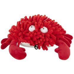 Multipet 8'' Sea Shammies Crab Plush Dog Toy