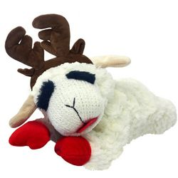 Multipet 6'' Lamb Chop With Antlers Dog Toy