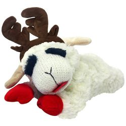 Multipet 10.5'' Lamb Chop With Antlers Dog Toy