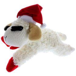 Multipet 6'' Lamb Chop With Santa Hat Dog Toy