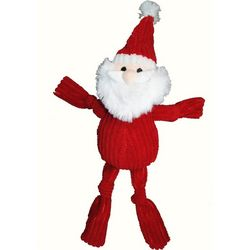 Patchwork Pet 10'' Corduoroy Santa Dog Toy
