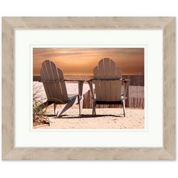 Coastal Home View Of The Sunset Framed Wall Art