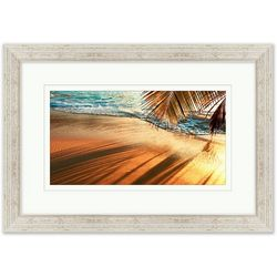 Coastal Home Palm Tree Shadow Framed Wall Art