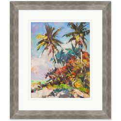 Coastal Home Colorful Palms Framed Wall Art