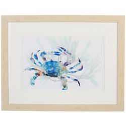 Coastal Home Watercolor Crab Framed Wall Art