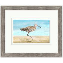 Coastal Home Sand Piper I Framed Art