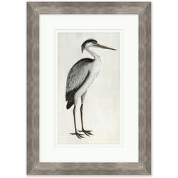 Coastal Home Neutral Heron I Framed Art