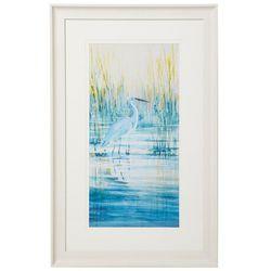 Coastal Home Egret Morning Framed Art