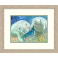 Palm Island Home Manatee Framed Wall Art