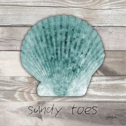 Palm Island Home Sandy Toes Wood Shell Wall Art