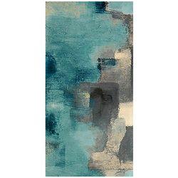 Artissimo Downtown Blue Rain I Canvas Wall Art