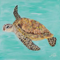 Palm Island Home Sea Turtle II Wall Art