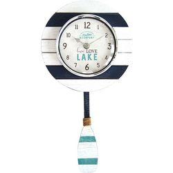 First Time Clocks Oar Pendulum Wall Clock