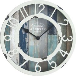 First Time Clocks 8'' Tranquil Bay Wall Clock