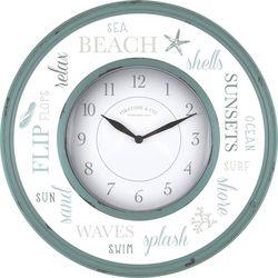 First Time Clocks 13'' Sea Glass Wall Clock