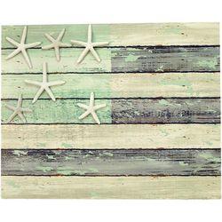 JD Yeatts USA Flag Starfish Wood Wall Art
