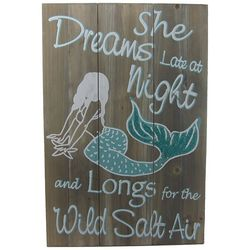 JD Yeatts Mermaid Dreams Plank Wall Art