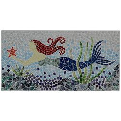 JD Yeatts Mosaic Mermaid Wall Art