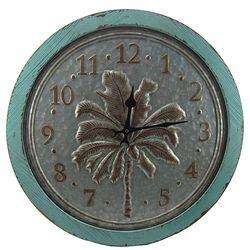 JD Yeatts Metal Palm Tree Clock