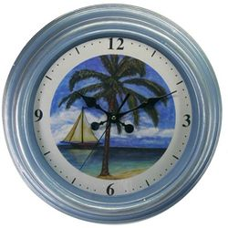 JD Yeatts 13'' Palm Tree Wall Clock