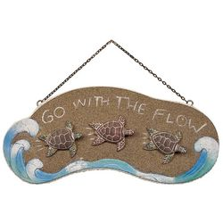 T.I. Design Go With The Flow Sea Turtle Wall Art