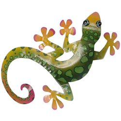 T.I. Design Green Gecko Wall Decor