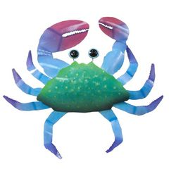 T.I. Design Blue Crab Wall Art
